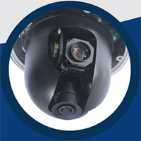 GeoVision fisheye speed dome security camera