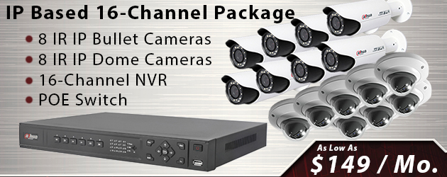 16 Channel IP Security Camera Package