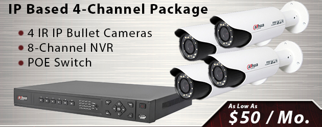 4 Channel IP Security Camera Package