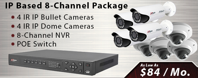 8 Channel IP Security Camera Package