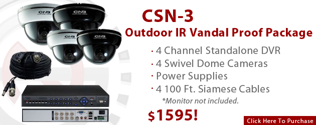 Outdoor IR Vandal Proof Package for $1395