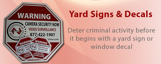 Surveillance Yard Signs and Decals