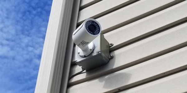 Security Camera On A House